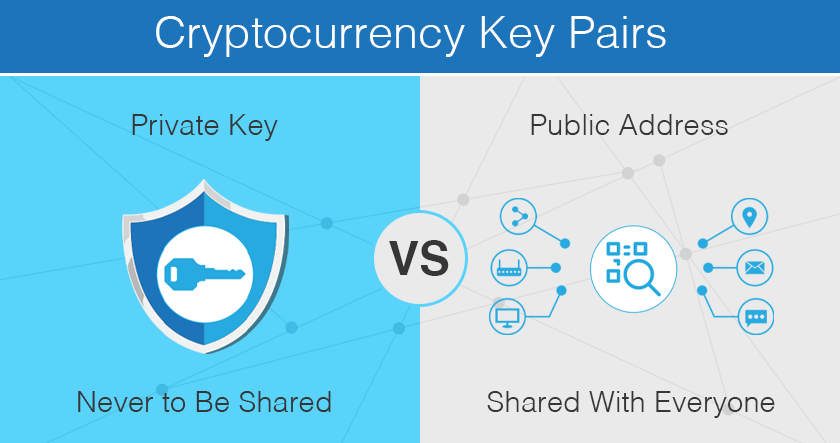 Crypto private key vs. public address