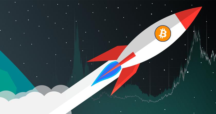 Bitcoin prices rocket ahead