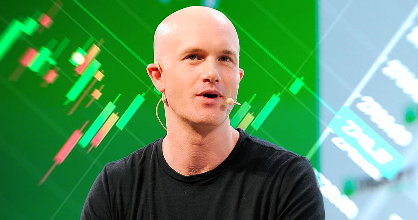 brian armstrong coinbase and stock market