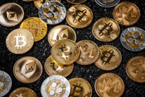 various physical cryptocurrency coins