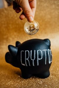 crypto in a piggy bank